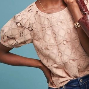 Anthropologie MAEVE Sylvie Rose Lace Top NEW
